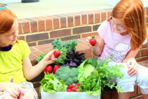 Youngsters enjoying Fresh From the Farms Produce!